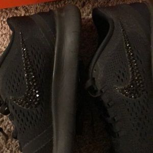 Nike Shoes - Nike free rn bedazzled tennis shoes